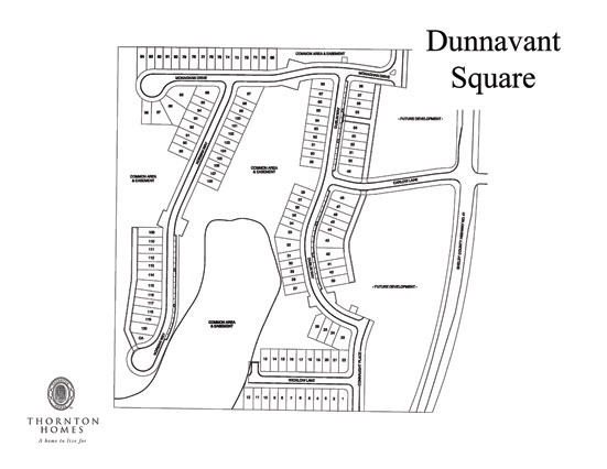 Dunnavant Square Site Map