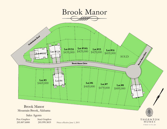 Brook Manor Site Map